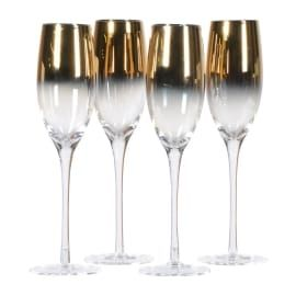 GOLD PLATED CHAMPAGNE GLASS