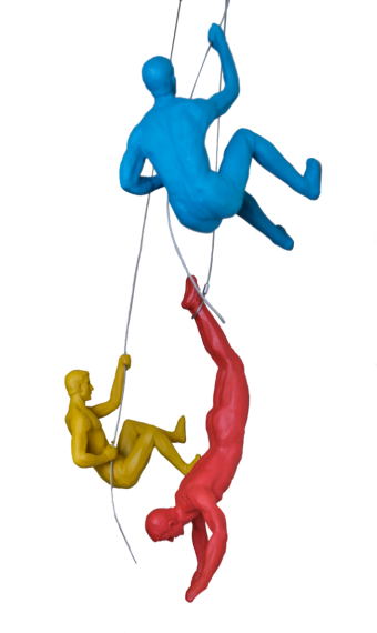 COLOURED CLIMBING MEN TRIO (SET OF 3)