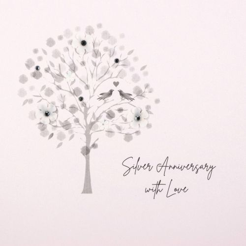 КАРТИЧКА - SILVER ANNIVERSARY WITH LOVE