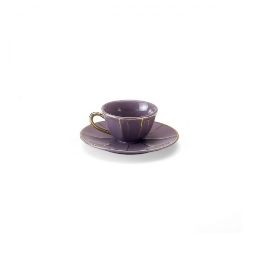 Coffee Cup W/Saucer purple