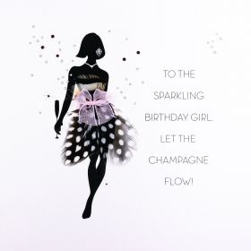 КАРТИЧКА - TO THE SPARKLING  BIRTHDAY GIRL ,.........