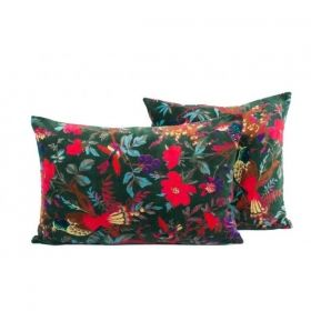 CUSHION COVER VELVET BIRDY  MELEZE