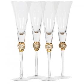 DIAMANTE BALL CHAMPAGNE GLASSES
