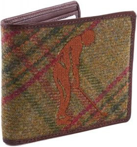 GREEN TWEED EMBROIDED GOLF WALLET