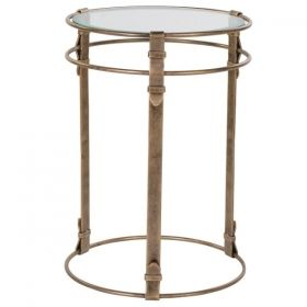 Gold Strap End Table