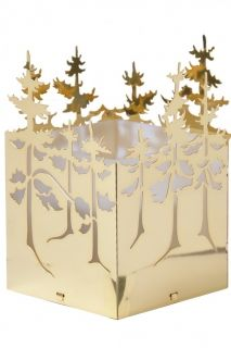 Winter Forest, Tealight Holder in Gold