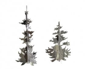 Winter Forest, Trees in Silver (2 Designs)