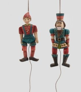 DECORATIVE FIGURES - PINOKIO AND A SOLDIER