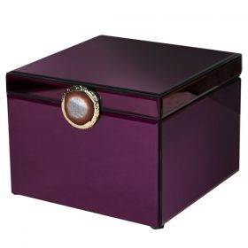 Burgundy Box with Agate Stone