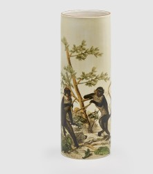 VASE WITH AN IMAGE OF MONKEYS