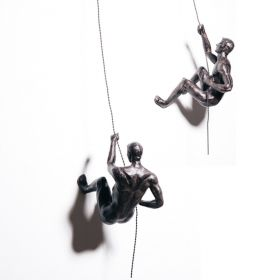 CLIMBING MEN DUO – BRONZE COLOUR SCULPTURES